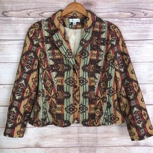 Cold Water Creek Southwestern Blazer